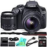 Canon EOS T6 / 1300D with EF-S 18-55mm 18.7MP CMOS 5184 x 3456 Pixels (Black) + 32GB SD Card + PRIME SELLER Camera Cleaning Cloth