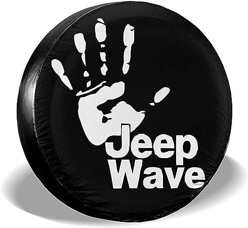 MOTALIN Wave Cubierta de neum/ático Personalizada Cubierta de neum/ático de Rueda Ajuste para Jeep Liberty Wrangler SUV Camper Accesorios de Remolque de Viaje 14In