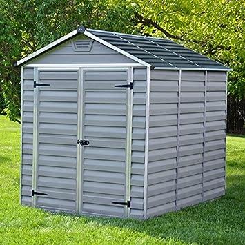 6 x 8 Palram SkyLight de plástico gris Shed – Plástico cobertizos – Cobertizos