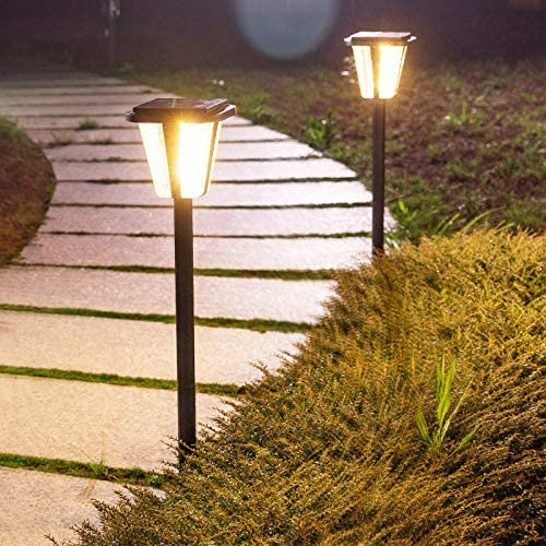 Luz de suelo LED solar para exteriores, jardín, exterior, resistente al agua, 3 unidades de luz cálida: Amazon.es: Iluminación
