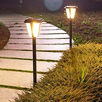 Luz de suelo LED solar para exteriores, jardín, exterior, resistente al agua, 5 unidades de luz cálida: Amazon.es: Iluminación
