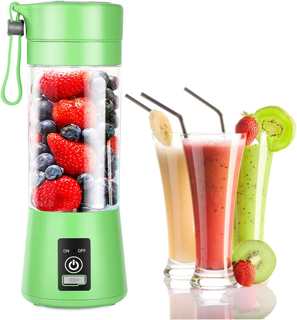 Aibenta Personal Blender Portable Blenders Smoothie Mixer USB Rechargeable Juicer Cup with 6 Updated Blades