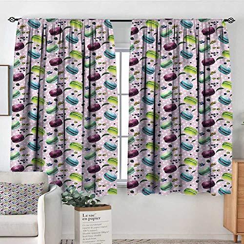 Blueberry Curtain - Sanring Kitchen,Backout Curtains Blueberry Pistachio Macaron 42