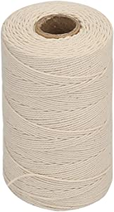 Vivifying 656 Feet 3Ply Cotton Bakers Twine, Food Safe Cooking String for Tying Meat, Making Sausage