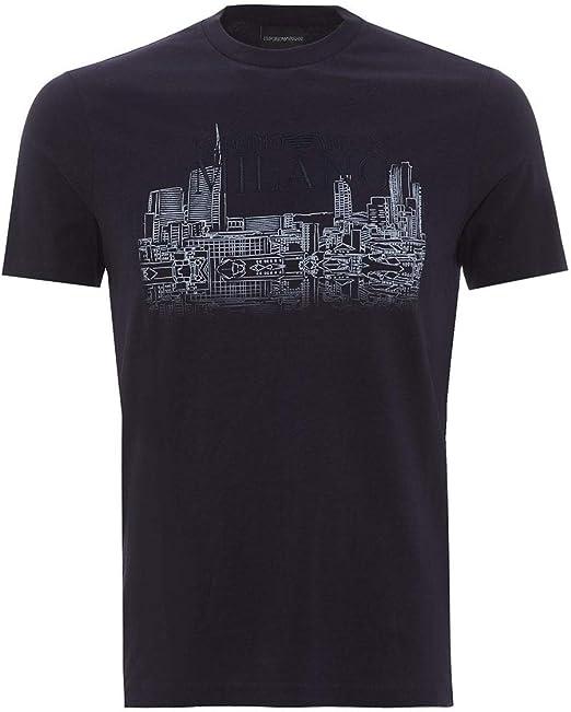 Emporio Armani Milano Cityscape - Camiseta para Hombre Azul Azul Marino XL: Amazon.es: Ropa y accesorios