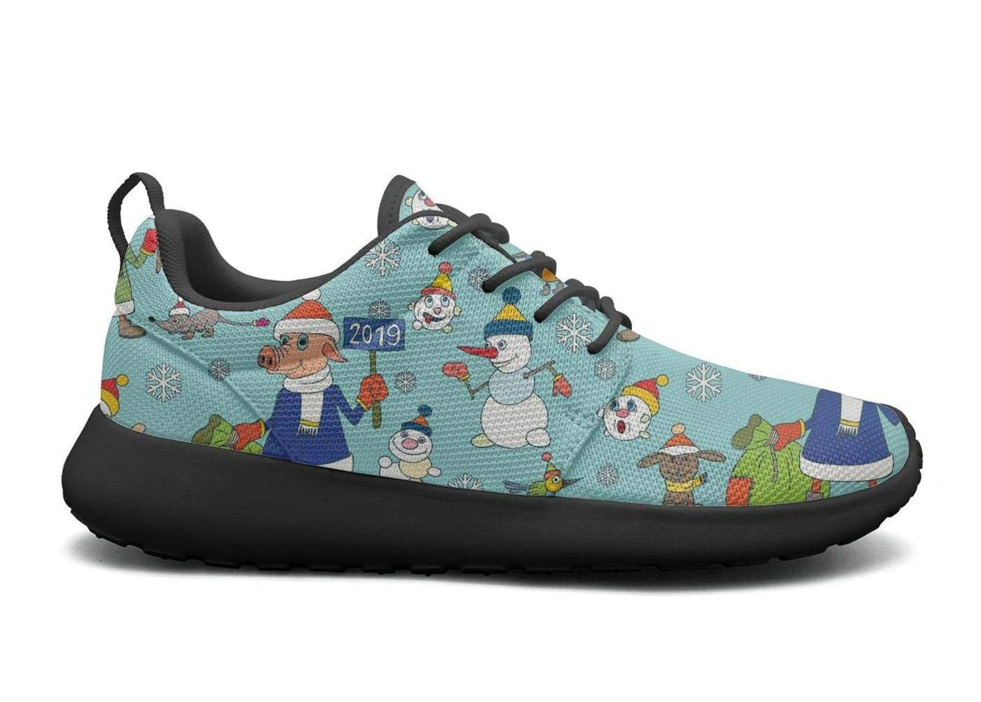 ipdterty Wear-Resistant Walking Sneaker Christmas Snowmen Year Pig Baby Mens Soft Track Running Shoes