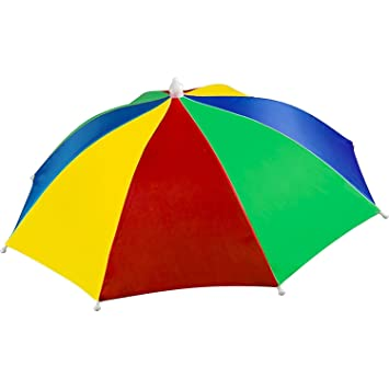 546092a25ec Large Umbrella Hat - Perfect rainbow shade to protect your head for fishing  beach golf party for ...
