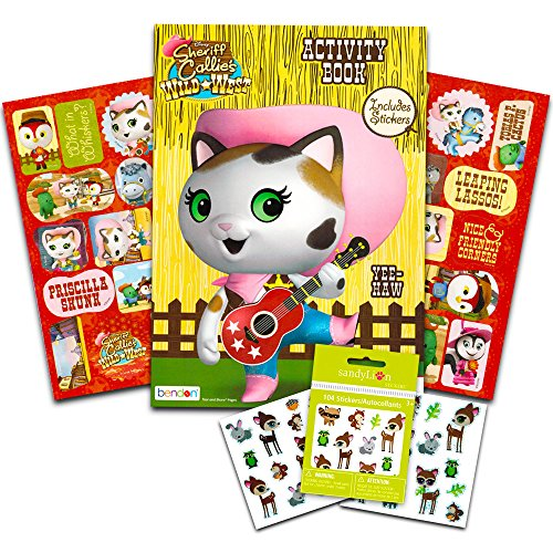 Disney Sheriff Callie Stickers Party Favors ~ Activity Book with Over 100 Reward (Sheriff Callie Birthday Party)