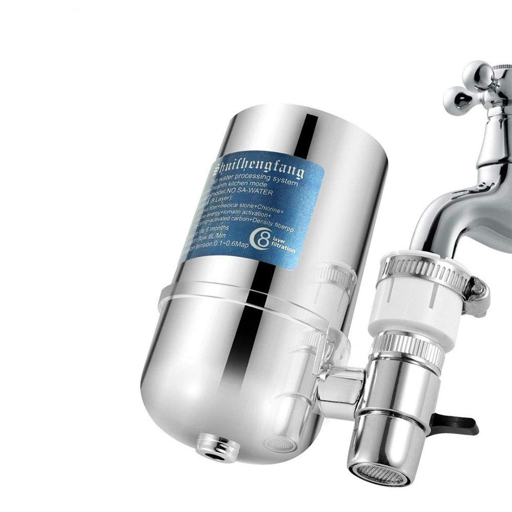 Faucet Water Filter, Tap Water Purifier Filter, Best Filtration System & Cartridge For Apply to Kitchen And Bathroom Sink