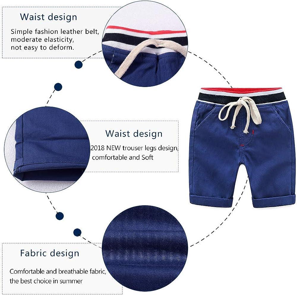 Yilaku Completini e Coordinati Camicia da Ragazzo con Set di Pantaloncini Abiti Casual a Maniche Corte per Ragazzi Estivi 2pcs