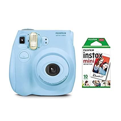 7c441a5a3764 Image Unavailable. Image not available for. Color  fujifilm instax Mini 7s  Light Blue + 10 Exposures Instant Film Camera ...
