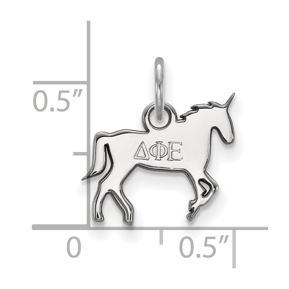 13.5mm x 17mm Solid 925 Sterling Silver Delta Phi Epsilon Extra Small Pendant