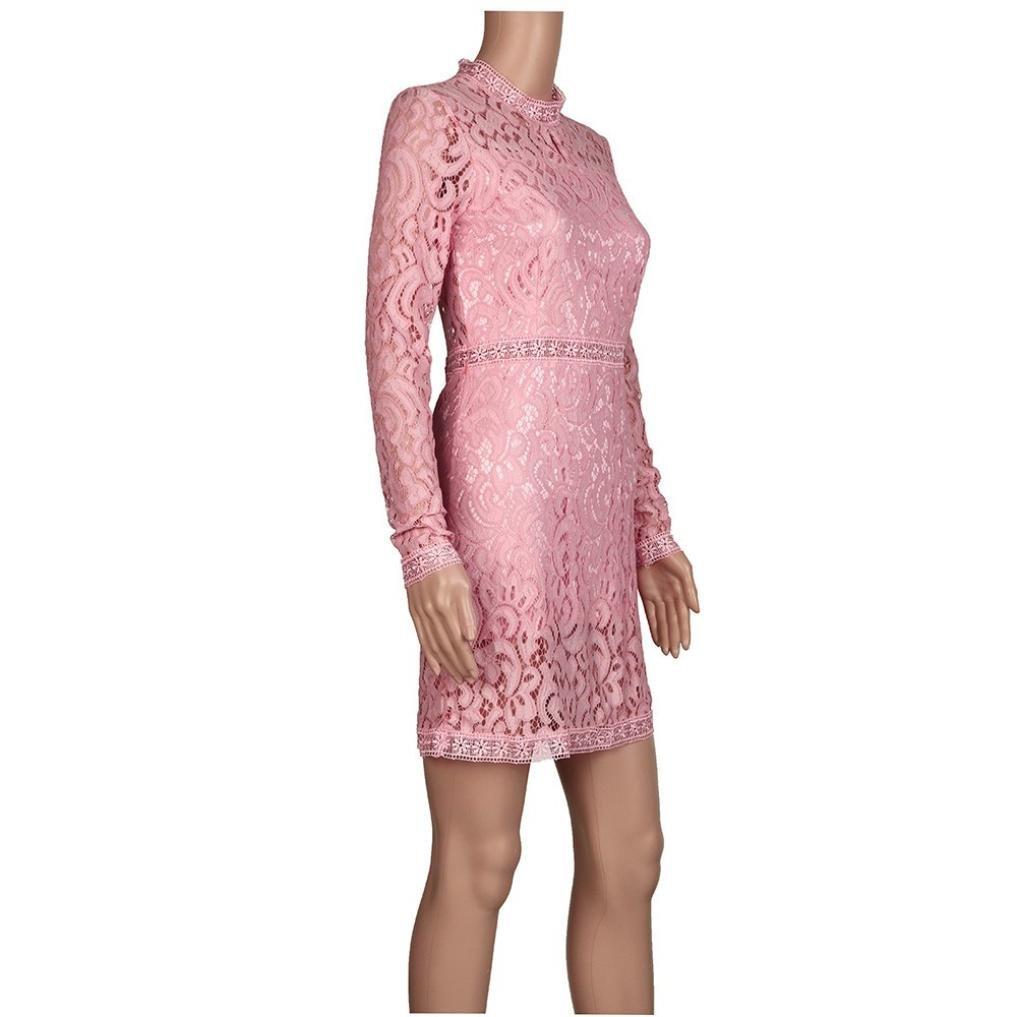 728c10928fe2b Elecenty Vestiti Donna Estivi Eleganti Da Cerimonia Corto Abiti Elegante  Chiffon In Pizzo Camicia Vestito Da Giorno Manica 3 4 Casuale Mare Vestitini   ...
