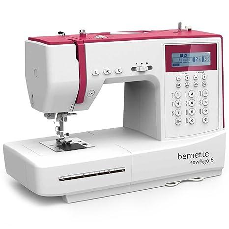 Bernina Bernette Sew & GO 8 - Macchina da cucire elettrica con 197 punti di cucito (utili, elastici, ornamentali), Quilt e patchwork, cucitura Automatica, display multifunzione - Cucito Swiss Design