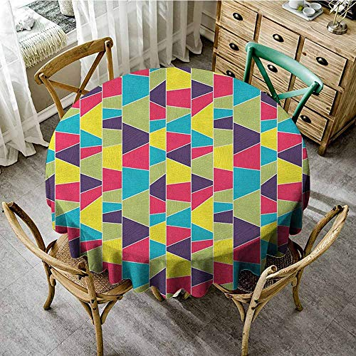 Rank-T 100% Polyester Round Tablecloth 67