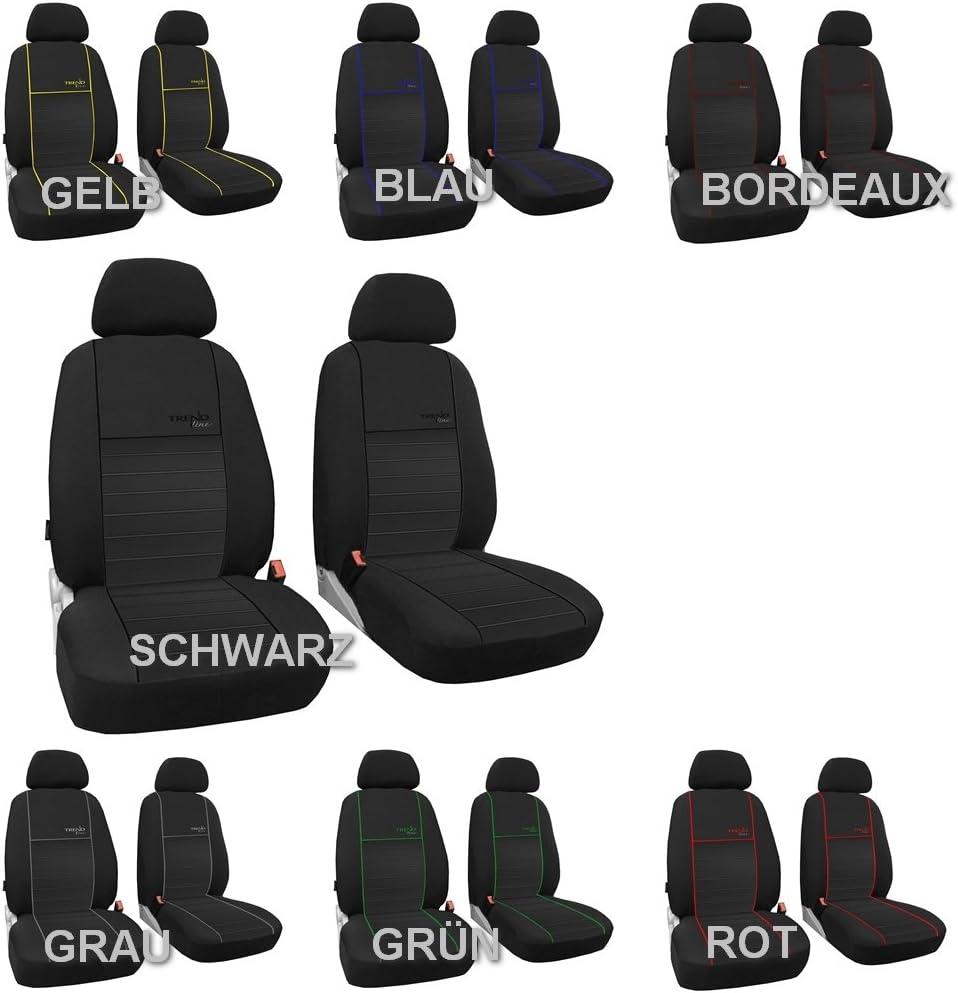 Design Trend-Line POK-TER-TUNING Vordersitzbez/üge 1+1 Sitzbez/üge Passend f/ür Amarok in Diesem Angebot Grau.
