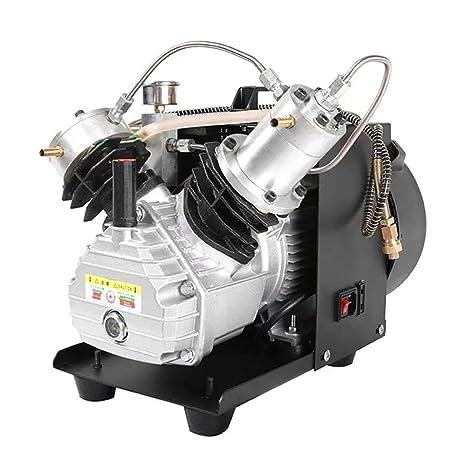 TOPQSC Twin Cylinder Auto-Stop 30MPA 4500PSI Compresor de aire eléctrico para bomba de aire