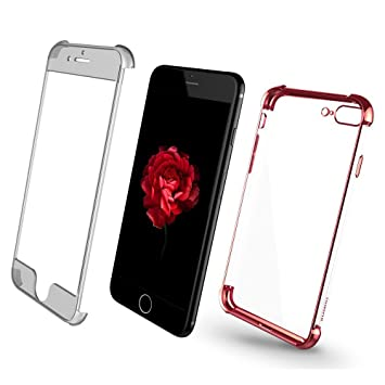 XUNDD Funda iPhone 7 Plus, Carcasa PC Dura y TPU Gel Silicona Suave Flexible Tapa Anti-rasguños Transparente Case Cover para iPhone 7 Plus(5.5 ...