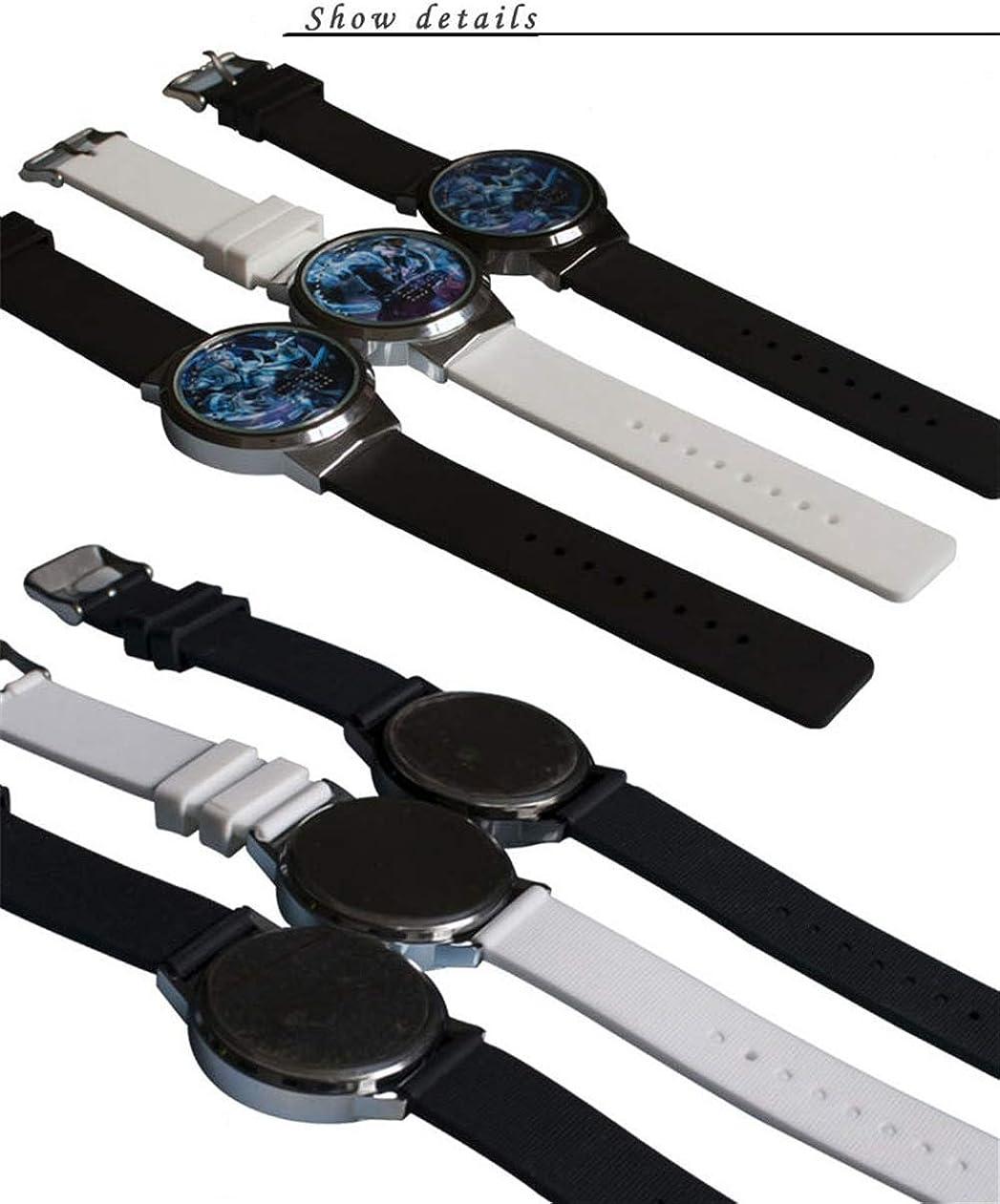 Montres Homme,Montre À Écran Tactile LED Naruto Anime Entourant Une Montre À Bande Électronique Lumineuse Et Étanche Gun Frame Black Belt