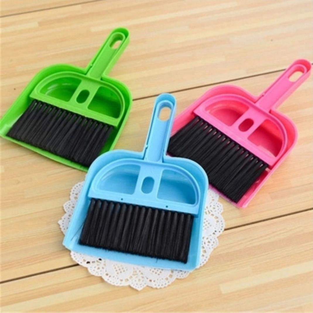 Little rock Mini Plastic Dustpan Brush and Brush Desk Cleaning Sweeper Dust Pan Set