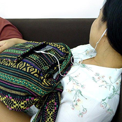 Bag Woven Boho Style Bohemian Hippie Taruron Festival Green Textile TOA4gqgxw