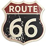 """SUDAGEN Route 66 Signs Vintage Road Signs with Polygon Metal Tin Sign for Wall Decor Art 12"""" x 12"""" (Route 66)"""