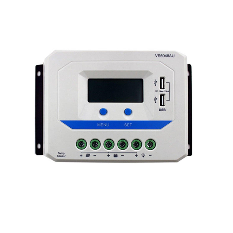 ソーラーチャージコントローラ VS1024AU VS2024AU VS3024AU VS4524AU VS6048AU 12V 24V エフェバー PWM LCDディスプレイ付き 5V DC出力 USB (Style : VS6024AU)   B07FCB2CG4