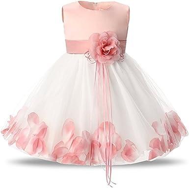Vestido de Bautizo de Niña Vestido de Noche Floral para Bebés ...