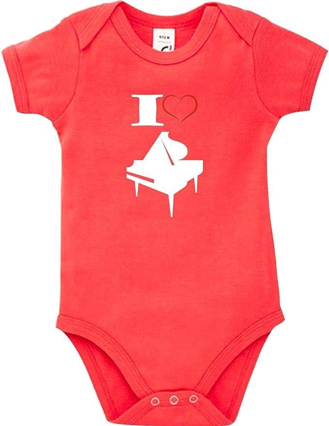 Shirtstown Baby Body Musik I Love Ukulele