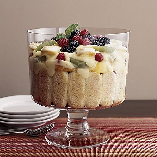 Attractive Trifle Bowl, Footed Glass Centerpiece, Trifle Cake Fruit Dessert Dish by Le'raze (Image #7)
