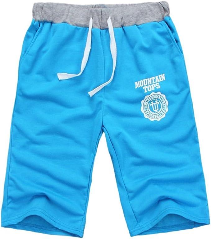 Summer Boys Mens Gym Sports Jogging Cotton Shorts Trousers Casual Half Pants UK