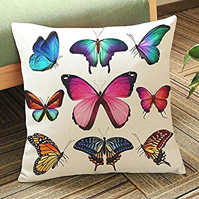 45_x_45_cm,Multicolor1 VJGOAL Retro Impresión Mariposa de