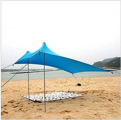 CAIJUN Toldo Refugio Playa Lona Carpas De Camping Pérgola Protector Solar Resistencia A Vientos Fuertes Alta Elasticidad Portable, 2 Estilos (Color : Blue, Size : A): Amazon.es: Hogar