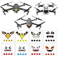 RCGEEK Stickers Set 3M Drone Decals Facial Expression Skins Compatible DJI Mavic 2 Pro/Zoom Mavic Pro Platinum/Pro Mavic Air Avoiding Birds Clashing, 8 Styles