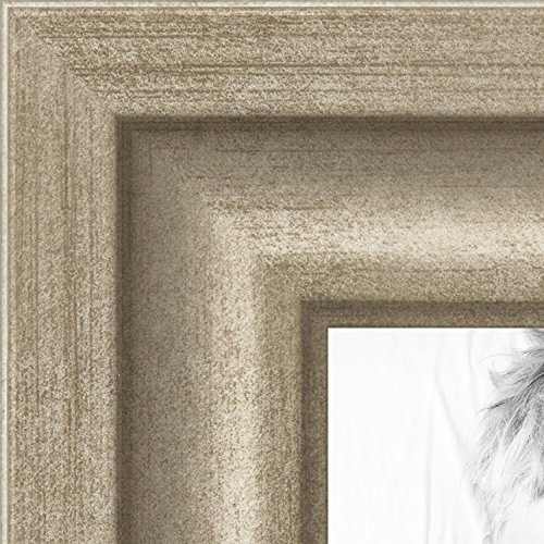 ArtToFrames 14x17 inch Muted Prosecco Gold Picture Frame, 2WOMBW275-1622-14x17