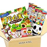 Pie no Mi Chocolate & Japanese Snack DAGASHI Set with AKIBA KING Sticker