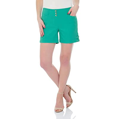 Rekucci Women's Ease into Comfort Stretchable Pull-On 5 inch Slimming Tab Short | Amazon.com