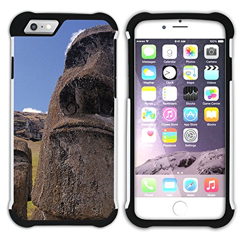 FJCases Easter Island Chile Postcard View Shockproof Hybrid Hard/Soft 2-Layer Protection Case Cover for Apple iPhone 7 Plus/iPhone 8 Plus (Island Postcard)