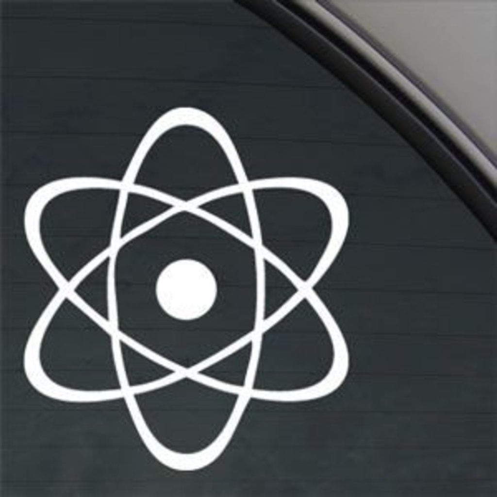 Atomic Atom Symbol Decal Vinyl Sticker|Cars Trucks Walls Laptop|WHITE|5.5 In KCD390 Keen Commodities