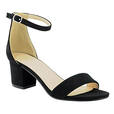 b54936096 Women s Heeled Sandals Ankle Strap Chunky Block Low Heel Strappy Stacked Fashion  Summer Party Dress Shoes JN08