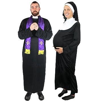 Ilovefancydress Schwangere Nonne Heilige Vater Paare Kostume