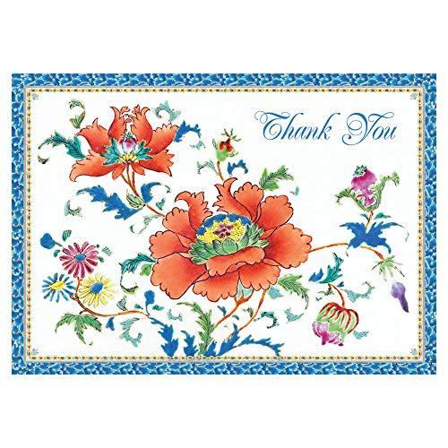 (Caspari Chinese Ceramic Thank You Notes, 16 Blank Cards &)