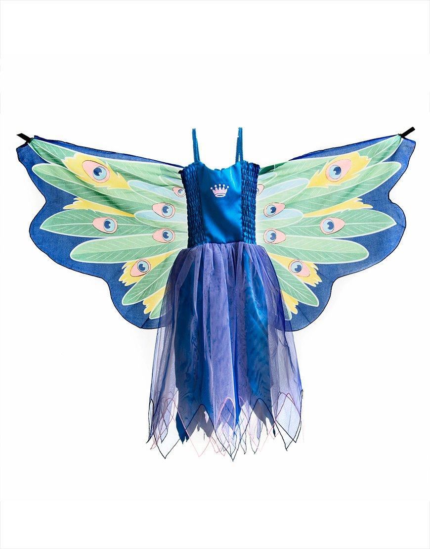 Dreamy Dress-Ups 50899 Dress, Fly-Away-Kleidchen, Peacock, Blaue Pfau Pavo cristatus, S 4-5 YRS B00FJ5IHNS Kostüme für Kinder Gewinnen Sie hoch geschätzt | München