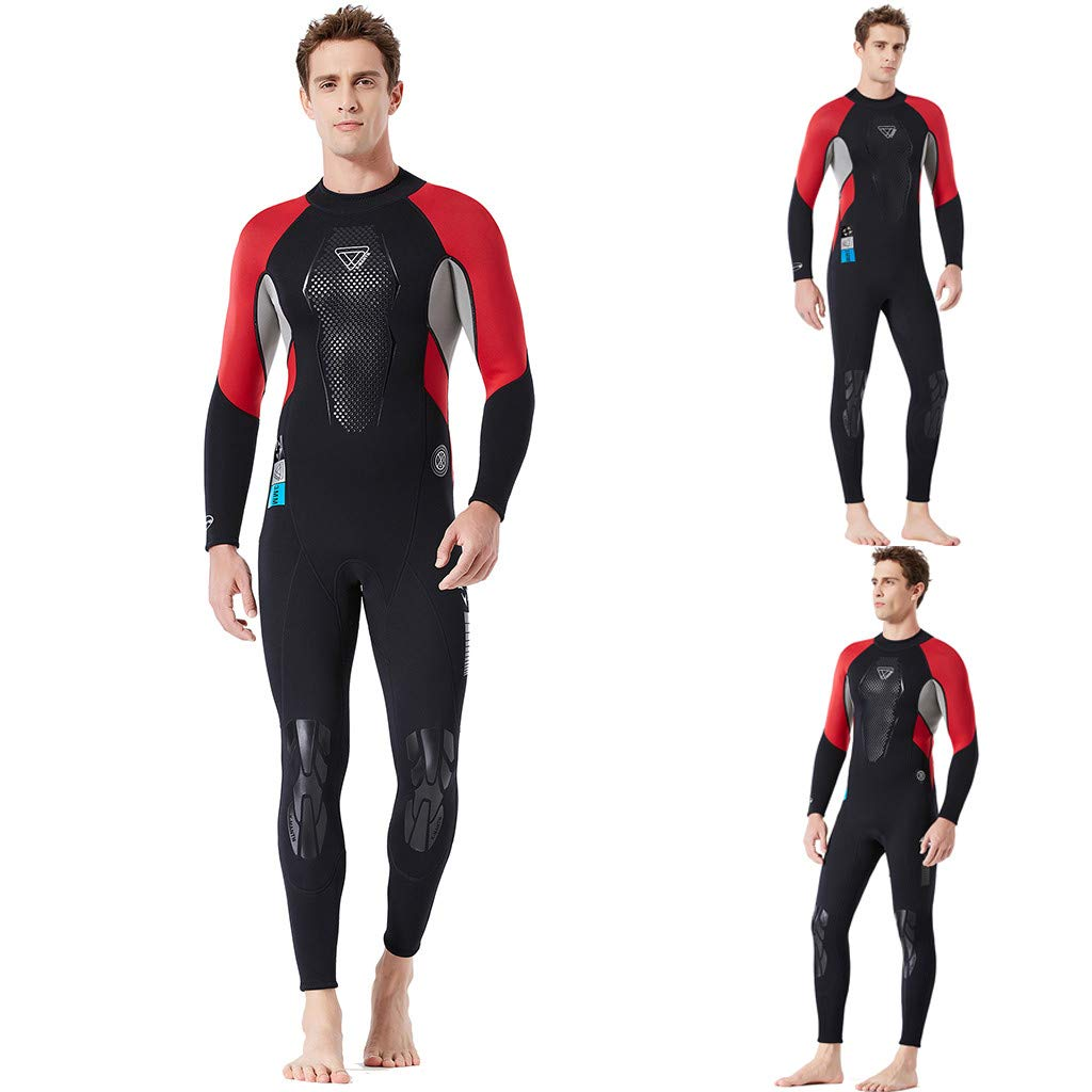 Yliquor Men's Keep Warm Sunscreen Swimming,Surfing and Snorkeling Diving Coverall SuitTraining Fashion Quick Dry Comfy Breathable Elastic Classic