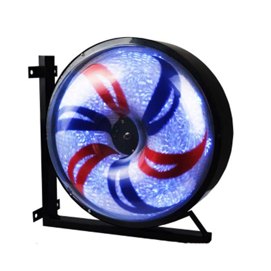 理髪店店ターンライト、ヘアサロンターンライトバーバーショップターンライトサインライト壁の風車LED大きな丸い光 (色 : A) B07HD4MWW3