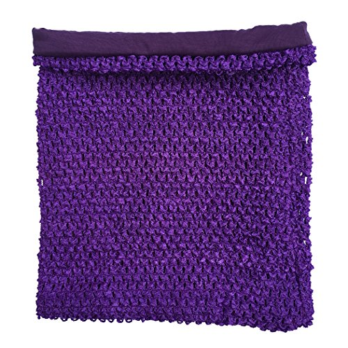 (Purple Crochet Tutu Top Lined 12 Inches X 10 Inches Elastic Crochet Tube Top)