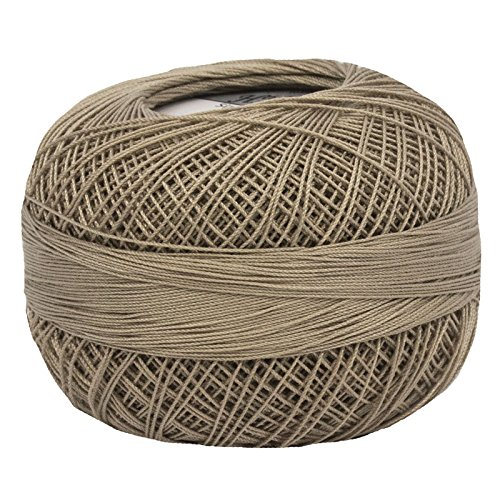 Lizbeth Size 80 HH80 Lizbeth Cotton Thread 184 Yds 10 Grams, Linen Medium (Thread Cotton Linen)
