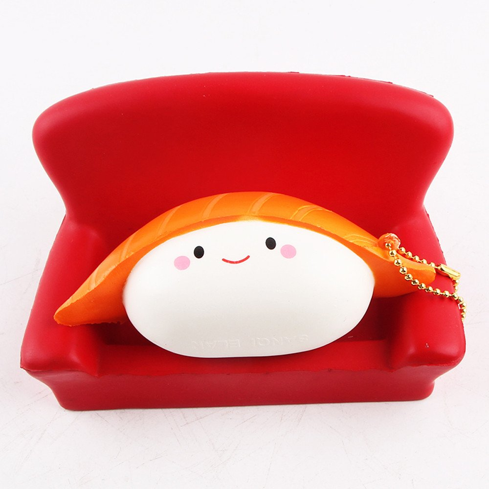 Dianli Squishies Very Slow Rising Sushi Shaped Scented Squeeze Fun Toy Relief Stress Cure Anxiety Gifts, Baby Baths Bathing Toys