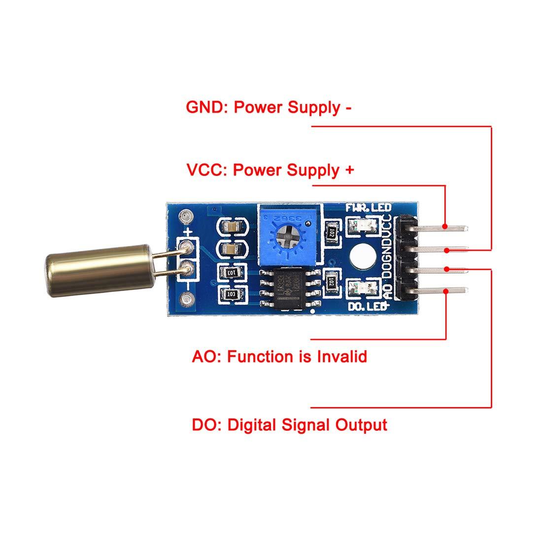 5pcs Modulo sensore interruttore vibrazione SW-520D uxcell