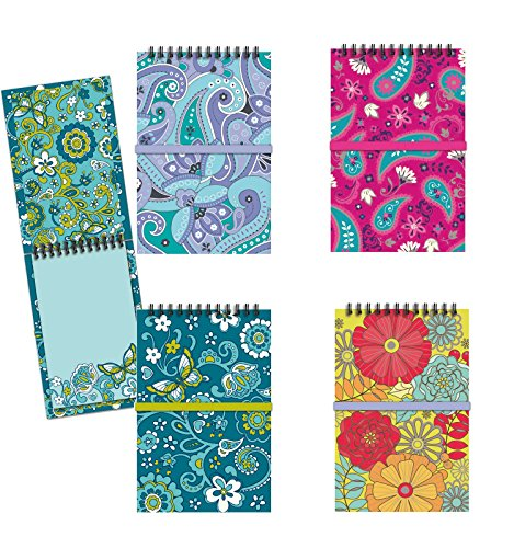 Colorful Spiral Notepad Set (4 Notebooks Total), 3.5